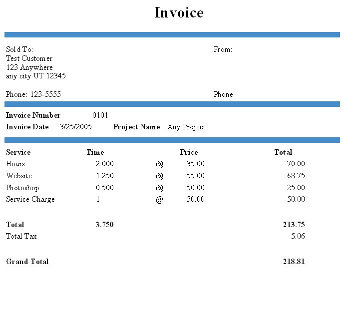 how to make invoices